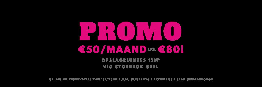 Promo Storebox Geel